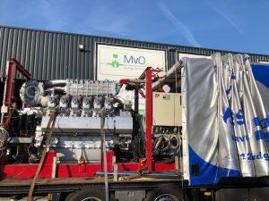 Warmtekrachtkoppeling op vrachtwagen